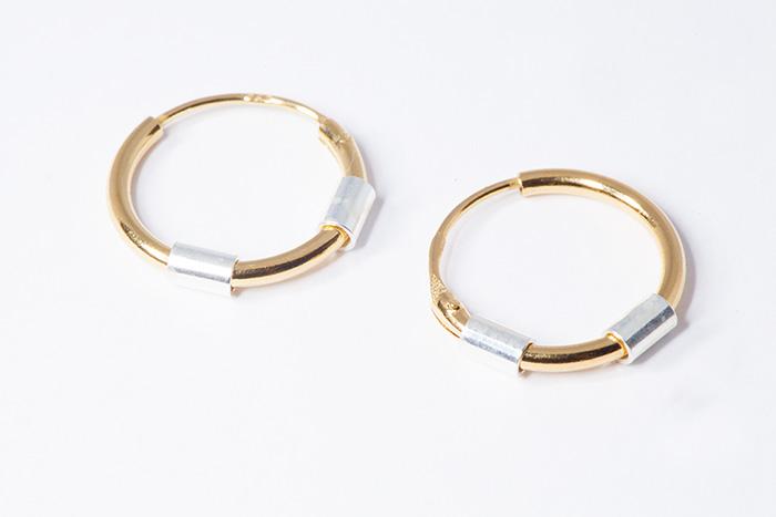 LOOP1 OR aritos de plata bañada en oro